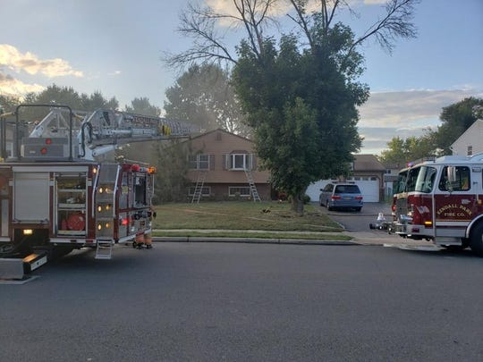 A fire at a Kory Drive home in South Brunswick has displaced a family with three school age children.