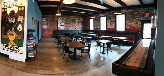 A view of the beer tasting room at Wise I Brewing Company in Le Mars. Wise I was recently named the 100th brewery in the state by the Iowa Brewers Guild.