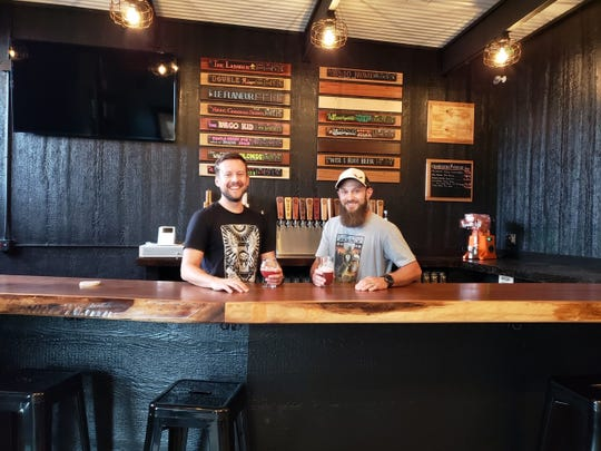 Matt Lancaster and Ben Sitzmann of Wise I Brewing Company in Le Mars.