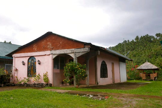 This Jan. 26, 2019 photo shows the convent next to the chapel built by American priest Father Pius Hendricks in the village of Talustusan on Biliran Island in the central Philippines.