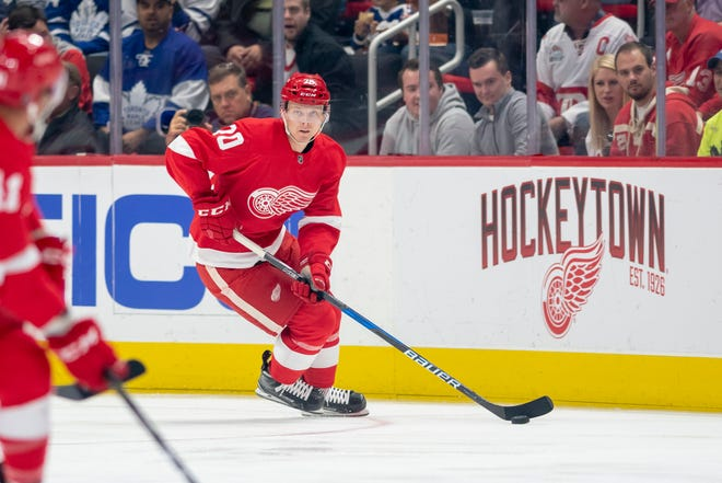 Christoffer Ehn, who had nine points (three goals) in 60 games last season, will be in the mix for what appears to be one of the final two forward spots on the Red Wings roster.