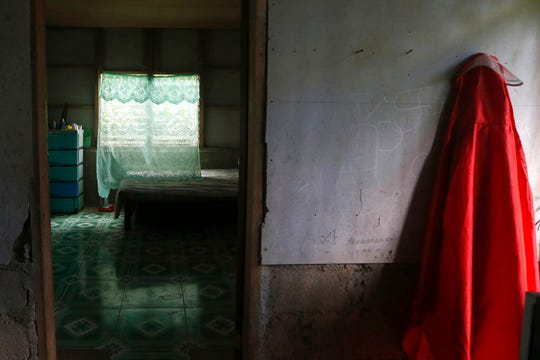 This Jan. 25, 2019, photo shows a room that was gifted to a former altar boy who has accused Father Pius Hendricks of sexual abuse in the village of Talustusan on Biliran Island in the central Philippines.