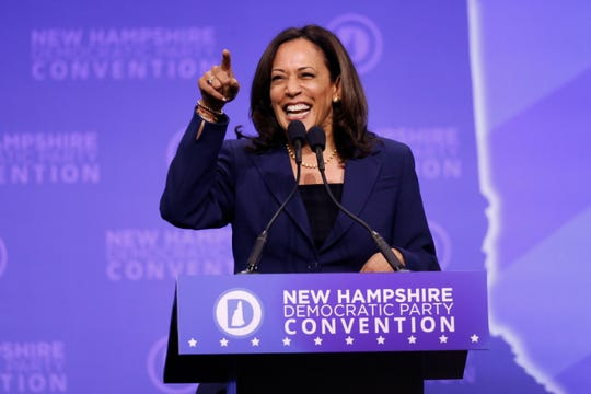 Sen. Kamala Harris, D-Calif was among the Democratic presidential candidates who called last week for Justice Brett Kavanaugh's impeachment,