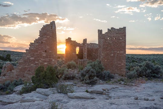 This June 20, 2017, photo shows Hovenweep Castle at Hovenweep National Monument on the Colorado-Utah border. The U.S. government will allow oil and gas companies to make lease bids Monday on lands considered archaeologically sensitive near a national monument stretching across the Utah-Colorado border that houses sacred tribal sites.