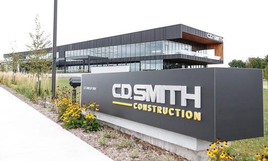 The new CD Smith Construction headquarters Wednesday, Sept. 4, 2019 at 125 Camelot Drive in Fond du Lac, Wis.