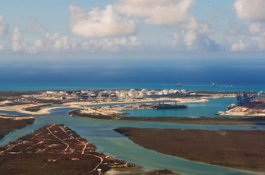 A view of a port in the Bahamas during a Hurricane Dorian relief mission on Monday from Fort Myers to the Bahamas. Three planes carried more than 3900 pounds of supplies that were donated by the Southwest Florida community.