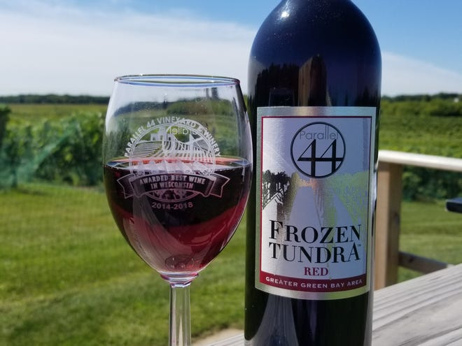 """Frozen Tundra Red, a wine made by Parallel 44 Vineyard and Winery from grapes grown on site, is one of two products made in Kewaunee County nominated for the """"Coolest Thing Made in Wisconsin"""" award. It's the second straight year the wine is a nominee."""