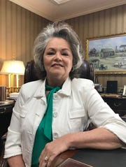 Simpsonville Mayor Janice Curtis poses for a photo in her office at Simpsonville City Hall ahead of the November 2019 election.