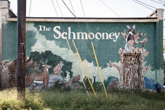 A mural on the back of a building at the corner of NE. Main Street and E. Curtis in Simpsonville.
