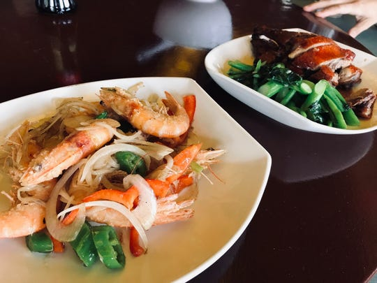 Asia Pacific's menu features authentic Chinese dishes like spicy salt and pepper shrimp and roast duck with gai lan, made with Chinese ingredients.