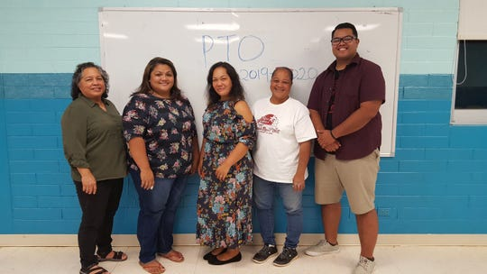 The 2019-2020 Guahan Academy Charter School Parent Teacher Organization's new board members pictured on Aug. 29. From left: Dean of Elementary School Guahan Academy Charter School, Mary Mafnas; Vice president, Marcia Barnes; Treasurer, Divina Danilla; President, Bernie Cauthen and secretary, T'Nel Mori.