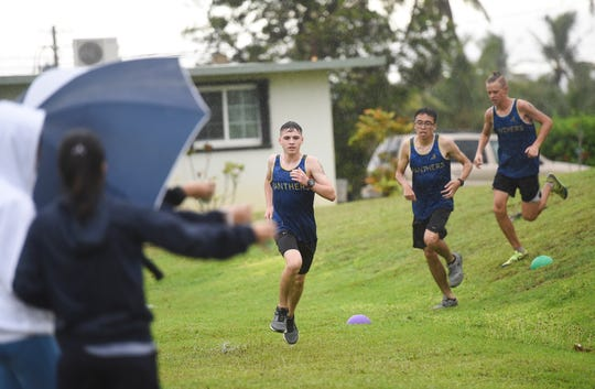 In this Sept. 9 file photo, the Harvest Eagles race the Guam High Panthers during a IIAAG Cross-Country meet at Harvest Christian Academy.