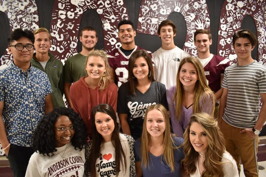 Homecoming is Friday night against Hopkinsville, and the Henderson County High School Homecoming Courts have been named. The Senior Court is pictured here and includes, in front from left: Sanaa Jackson, Estie Hazelwood, Emilee Hope and Brooke Bugg.  In middle from left: Alaina Nail, Maddy Pressley and Jada Townsend In back from left: Isaac Somo, Alex Peckenpaugh, Paxton McGraw,  Isaiah Fallen, Zach Ligon, Isaac Damrath and Tristan Brocato.