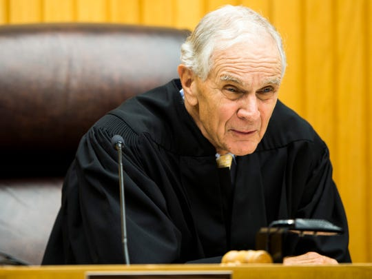 Senior Judge Walter Kurtz during a plea deal hearing for George Thomas in Knox County Criminal Court on Monday, Sept., 9, 2019.