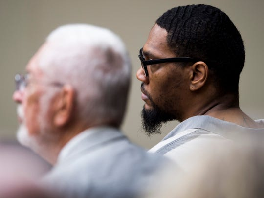 George Thomas, right, during a plea deal hearing for Thomas in Knox County Criminal Court on Monday, Sept., 9, 2019.