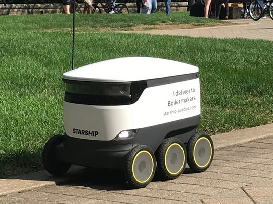30 robots from Starship Technologies began delivering food from partnering restaurants Monday, Sept. 9, 2019.