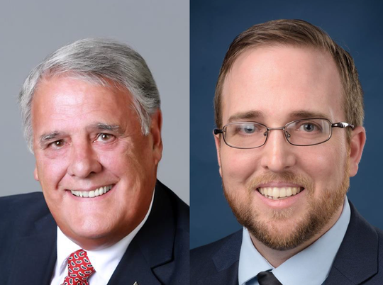 John Guilbeau, left, and Roddy Bergeron, right, are running to represent District 4 on Lafayette's new parish council this fall.