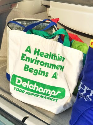 This Delchamps reusable shopping bag has been in Caitlin Russo's family for more than 25 years and been used more than 1000 times rather than thousands of single use plastic bags.