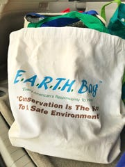 Cotton reusable bags are sturdy, spacious and machine washable. They may replace one or more plastic single use bag every trip to the store.