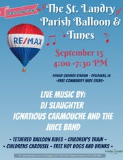 A free event featuring a hot air balloon, tunes, food and fun will be coming to St. Landry Sept. 15.