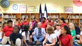 Francophone musician Zachary Richard awarded national order medal at Myrtle Place Elementary, a French immersion school in Lafayette.