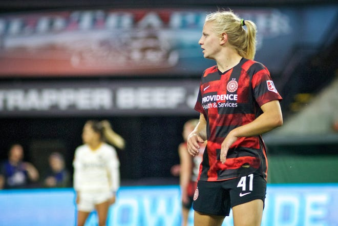 Hartland grad Maddie Pogarch, who plays professional soccer for the Portland Thorns, played two games in England for the U.S. women's under-23 team.