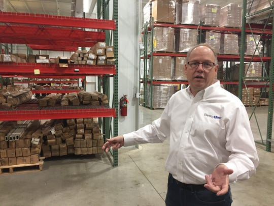 DisplayMax Founding President Charlie Domen shows his company's new 33,500-square-foot facility in Howell, Monday, Sept. 9, 2019