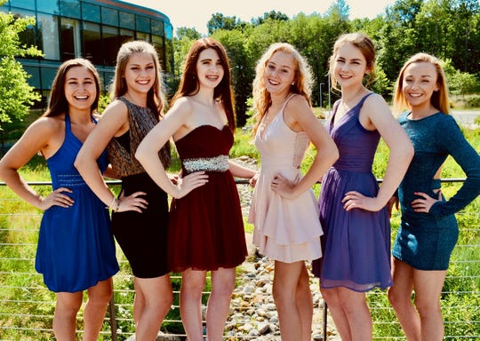 LACASA's 2019 Cinderella's Closet representatives pose for a group photo. Pictured left to right: Olivia Diakantonis (Howell), Nicole Caudy (Howell), Devin Douglas (Howell), Gabriela Gartner (Pinckney), Sarah Horst (Hartland), Kammy Killian (Howell)
