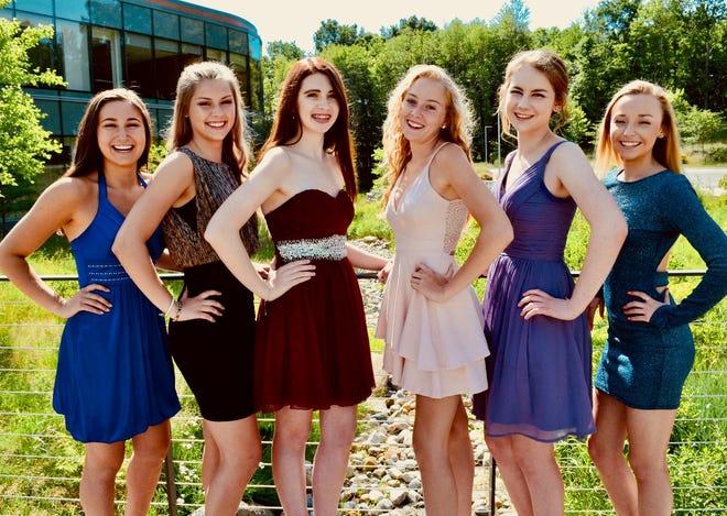 LACASA's 2019 Cinderella's Closet representatives pose for a group photo. Pictured left to right: Olivia Diakantonis (Howell), Nicole Caudy (Howell), Devin Douglas (Howell), Gabriela Gartner (Pinckney), Sarah Horst (Hartland), Kammy Killian (Howell)