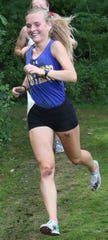 Ontario's Grace Maurer is thrilled to run with her sister, Ellie, in every race.