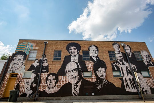 Former Memphis bishop Carroll T. Dozier has been removed from the Upstanders mural, and has been painted over. His image was replaced by Jose Guerrero, a founder of Latino Memphis.
