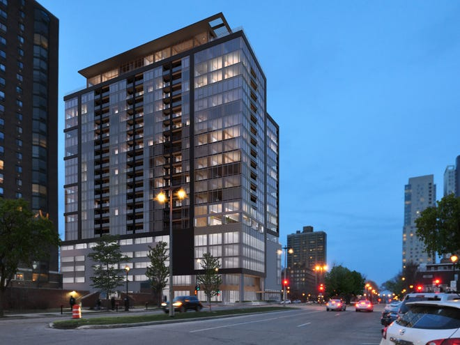 An apartment building that would have its frame constructed from engineered timber is planned for downtown Milwaukee.
