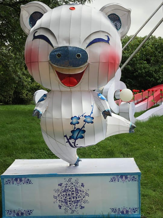 """China Lights: Treasures  of China"" at Boerner Botanical Gardens celebrates the Year of the Pig. The exhibit runs from Sept. 13 through Oct. 27."