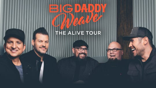 Montgomery's Eastmont Baptist Church will host contemporary Christian band Big Daddy Weave on Sept. 18. Becca Bradley and Jonathan Chu also will be a part of the night of worship.