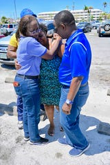 Middle Tennessee State University President Sidney McPhee, a native of The Bahamas, met with families in Freeport who were impacted by Hurricane Dorian on Sunday.