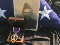 Newark D-Day veteran, lost Purple Heart medal reunited for eternity