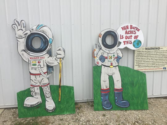 The 2019 edition of the Van Buren Acres corn maze is built around the anniversary of the first Apollo moon landing.