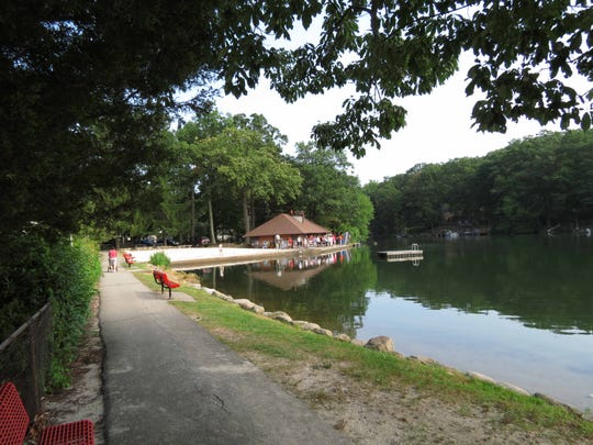 The property owners association at Erskine Lakes in Ringwood has a variety of amenities, including a private beach, available for due-paying community members.
