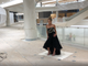 Photo shoot for (201) Magazine in a retail area under construction at American Dream in August 2019.