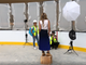 Photo shoot for (201) Magazine inside the Ice Rink at American Dream in August 2019