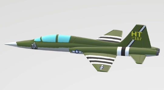 World War II Paint Scheme for 586th Flight Test Squadron Plane.