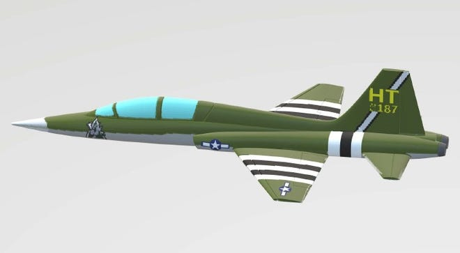 World War II Paint Scheme for 586th Flight Test Squadron Plane.