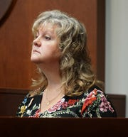 Ann Stislicki, Danielle Stislicki's mother, testifies during the prelinary exam of Floyd Galloway on Sept. 9, 2019. Ann, who worked in the same Met Life office building as her daughter, testified that she'd seen Danielle talking with Galloway - who at one time was a security guard at the office complex, but that her daughter had no interest in the man and was simply being friendly.