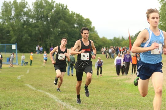 Northville's Alex Beloui runs in the Bret Clements Memorial Invitational