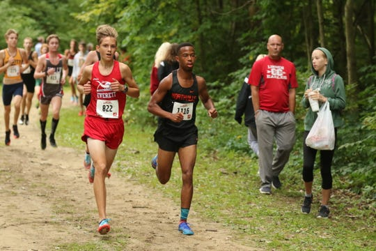 Northville's Josh Hardy runs in the Bret Clements Memorial Invitational.