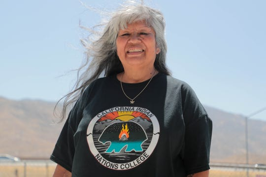 Marguerite Pablo, a student at California Indian Nations College poses for a photo in Cabazon, Calif. on Friday, August 23, 2019.