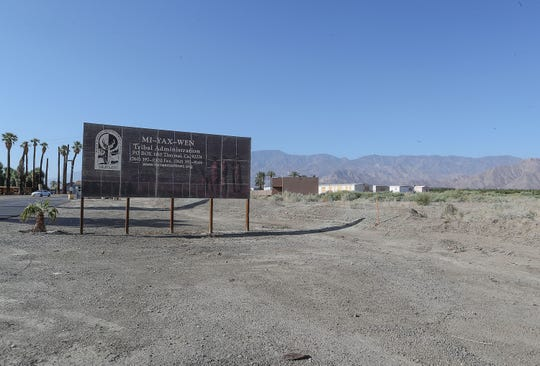 The site where the Torres Maritnez tribe will be building a new health clinic on Martinez Road near the tribe's administration buildings in Thermal, September 9, 2019.