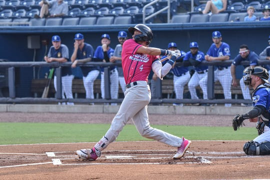 The Blue Wahoos lost 8-4 to the Biloxi Shuckers in their divisional playoff series finale Sunday at MGM Park.
