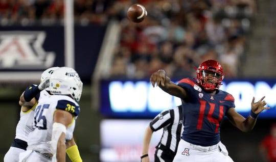 Khalil Tate and the Arizona Wildcats rolled past NAU.