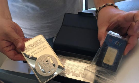 Seized silver and gold bars.